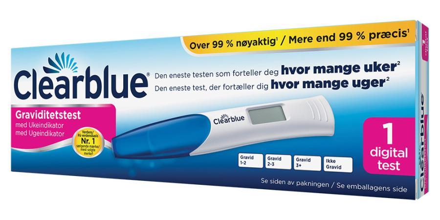 digitalt graviditetstest veckoindikator